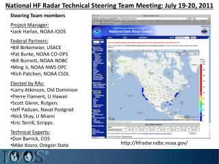 National HF Radar Technical Steering Team Meeting: July 19-20, 2011