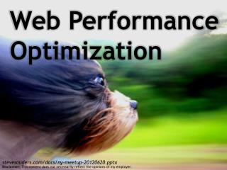Web Performance Optimization