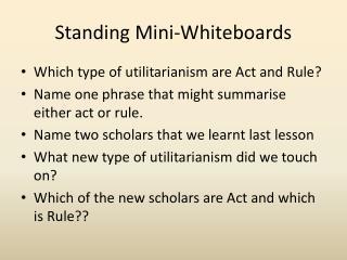 Standing Mini-Whiteboards