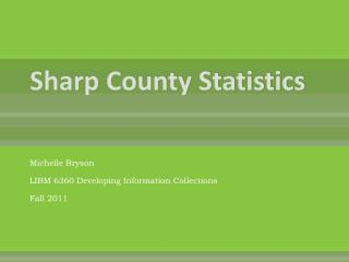 Sharp County Statistics