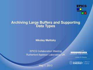 Archiving Large Buffers and Supporting Data Types