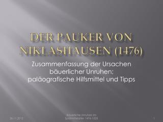 Der Pauker von Niklashausen (1476)