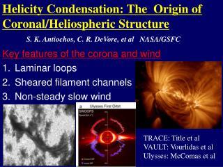 Helicity  Condensation:  T he   Origin of Coronal/Heliospheric Structure