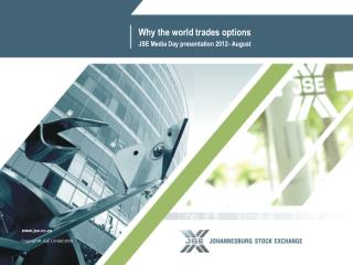 Why the world trades options