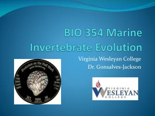 BIO 354 Marine Invertebrate Evolution