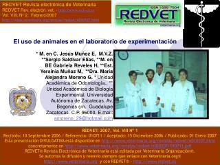 El uso de animales en el laboratorio de experimentaci n