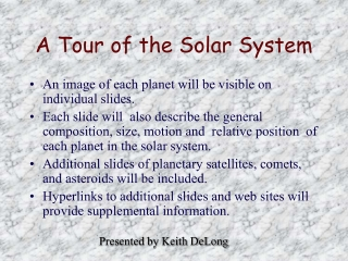 The Earth - a Celestial Body
