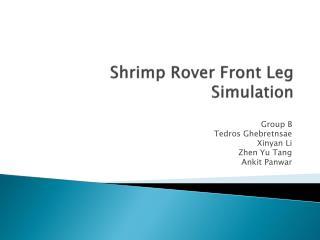 Shrimp Rover Front Leg Simulation