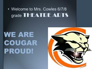 WE ARE COUGAR PROUD!