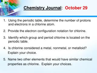 Chemistry Journal :   October 29
