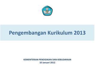 Pengembangan Kurikulum 2013