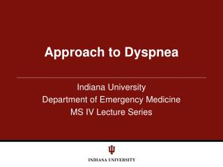 Approach to Dyspnea