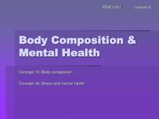 Body Composition & Mental Health
