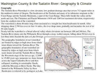 Washington County  & the  Tualatin  River: Geography & Climate