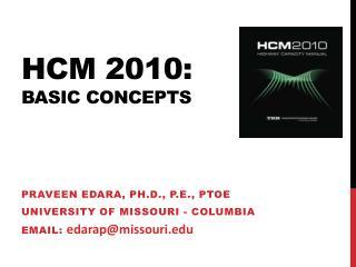 Hcm  2010: BASIC CONCEPTS