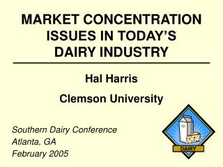 MARKET CONCENTRATION ISSUES IN TODAY