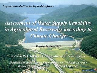 Irrigation Australia/7 th  Asian Regional Conference