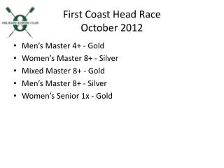 First Coast Head Race October  2012