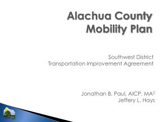 Alachua County Mobility Plan