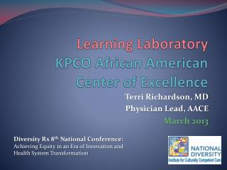 Learning Laboratory KPCO African American Center of Excellence