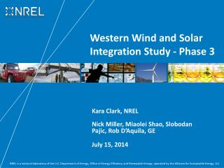 Western Wind and Solar Integration Study - Phase 3