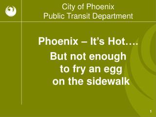 City of Phoenix Public Transit Department