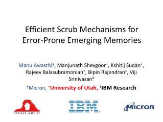 Efficient Scrub Mechanisms for Error-Prone Emerging Memories