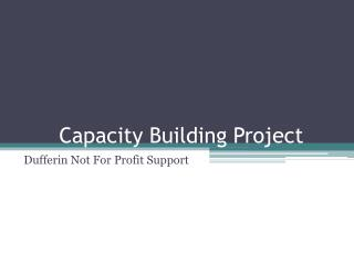 Capacity Building Project
