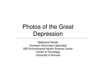 Photos of the Great Depression