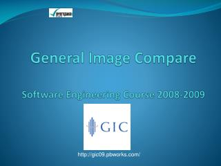 General Image Compare Software Engineering Course 2008-2009