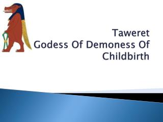 Taweret Godess  Of  Demoness  Of Childbirth