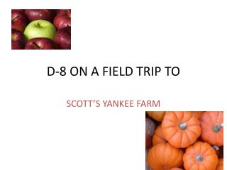 D-8 ON A FIELD TRIP TO