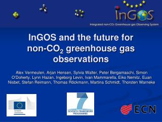 InGOS  and the future for  non-CO 2  greenhouse gas observations