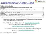 Outlook 2003 Quick Guide