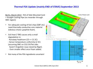 Thermal FEA Update (mainly END  of  STAVE) September 2013