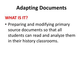 Adapting Documents