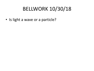 Investigating the Behavior of Light