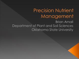 Precision Nutrient Management
