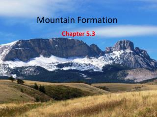 Mountain Formation