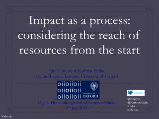 Impact as a process: considering the reach of resources from the start