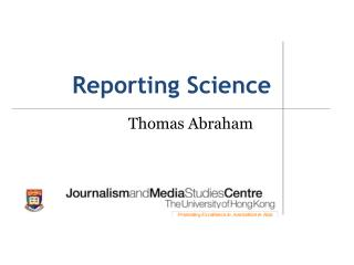 Reporting Science