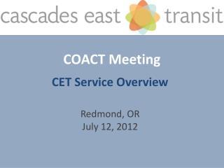 COACT Meeting