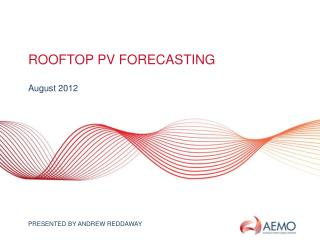 ROOFTOP PV Forecasting