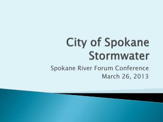 City of Spokane Stormwater