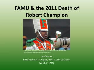 FAMU & the 2011 Death of Robert Champion