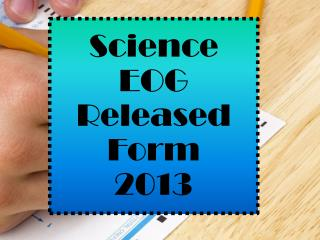 Science EOG Released Form 2013