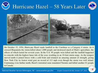 Hurricane Hazel – 58 Years Later