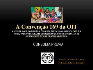 Consulta  Prévia Hariessa Cristina Villas Bôas Federação Indígena Brasileira