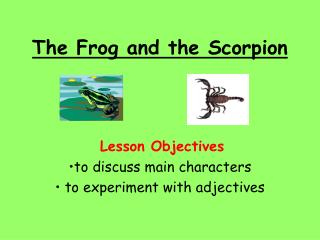 The Frog and the Scorpion