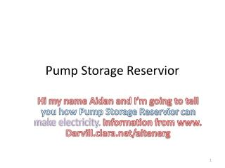 Pump Storage  Reservior